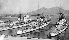 All four sister ships of the Italian Zara Class Heavy Cruisers. The three mostly pictured here were all sunk at the Battle of Cape Matapan March 28,1941