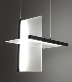 pendant lamp contemporary planar 2d