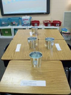 Test review game, giving students a chance to move around and double check their responses