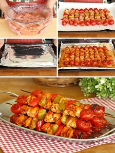 Chicken Bake Skewer, Soft Delight Like Turkish Delight - Yummy Recipes Yummy Recipes, Lunch Recipes, Meat Recipes, Seafood Recipes, Dinner Recipes, Cooking Recipes, Yummy Food, Healthy Recipes, Turkish Delight
