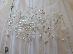 Bridal Haircomb Crystal Hair Comb by MagicBluebellDesigns on Etsy