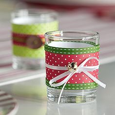 Christmas Party Votives tutorial - you can use them for party favors or decor