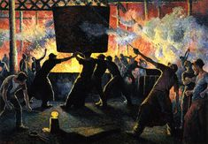 Maximilien Luce - The Iron Foundry,1899
