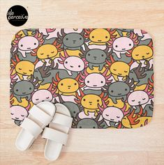 - Printed foam with non-slip bottom - High quality full color printing that won't fade - 100% polyester microfiber face and polyester back - Available in multiple sizes - Machine wash cold  #weperceivestyle #bathmat #bathroomdecor #bathmat #home #newdesigns #axolotls #axolotl #walkingfish #illustrationdesign #graphicillustration #axolotllove #axolotllover #patterndesign #patternlove #designforliving #designlovers #livingproducts #purplelove #illustrationlove