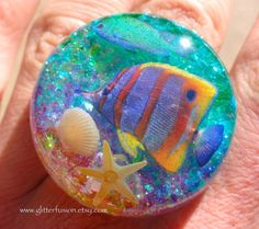 RESERVED ITEM Opalescent Resin Aquarium Fishtank by GlitterFusion