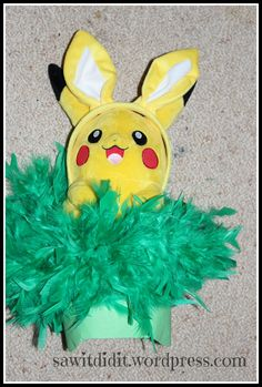 Easter Pikachu hat. Easter hat ideas for boys