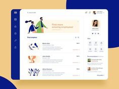 Hiring platform 🕵️‍♀️ by Marta Mielcarek for Softwaremill on Dribbble Dashboard Interface, User Interface Design, App Ui Design, Dashboard Design, Flat Design, Responsive Web Design, Web Design Tutorial, Application Design, Ui Web