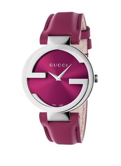 GUCCI STAINLESS STEEL INTERLOCKING PINK DIAL 🎀 #gucci #watch #pink #mothersday #silverandpink #giftinspiration #terencelett #witney #jewellery #jewellers