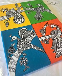 Discover recipes, home ideas, style inspiration and other ideas to try. Mural Painting, Mural Art, Fabric Painting, Murals, Art Diy, Art N Craft, Arte Tribal, Tribal Art, Indian Folk Art