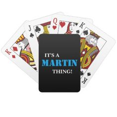 IT'S A MARTIN THING! CARD DECKS