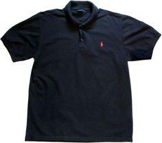 Ralph Lauren polo sport shirt mens black 100% cotton size XL logo #RalphLauren #PoloRugby
