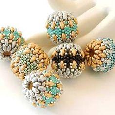 #PDF-104 - MiniDuo Beaded Bead Pattern by Sharri Moroshok - Auntie's Beads Direct