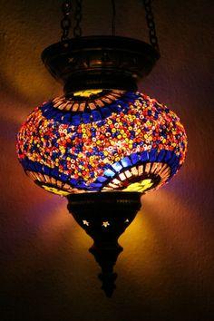Moroccan Lamp Shade: LARGE TURKISH MOROCCAN MOSAIC HANGING LAMP PENDANT LANTERN LIGHTING  LAMPSHADE | eBay,Lighting