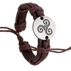 Teen Wolf Triskele Leather Bracelet