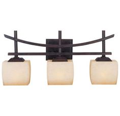 Zen Bathroom Lighting Fixtures allen + roth 3-light oil-rubbed bronze bathroom vanity light