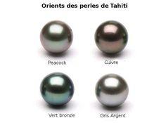 Orients des perles noires de Tahiti