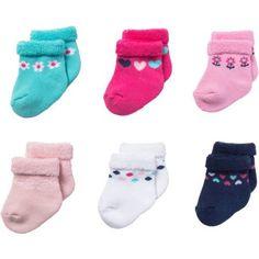 Gerber Newborn Baby Girl Terry Bootie Socks, 6-Pack - Walmart.com