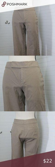 NEW  TALBOTS Womens Stretch Cropped Capri Pants NWT olive Green  4P 6 6P 16P