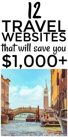 Check out this list of travel websites that will save you $1,000+. This is a great list!