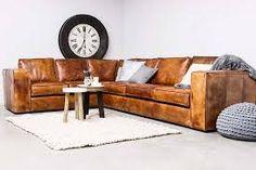 Bruin leren bank loods5 huis pinterest banks leather sofas