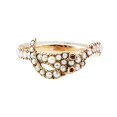 Early 19th Century Pearl Snake Ring