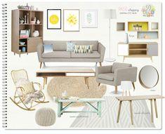 Scandi Chic, Palette, Scandinavian Interior Design, Piece A Vivre, Love Seat, Sweet Home, Couch, Mood Boards, Poitiers