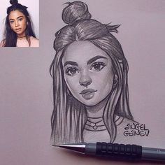Portrait sketch I swear one day ama learn how to draw hands. Girl Drawing Sketches, Girly Drawings, Portrait Sketches, Pencil Art Drawings, Cool Art Drawings, Realistic Drawings, Beautiful Drawings, Cartoon Drawings, Drawing Ideas