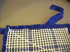 A good walk through of locker hooking, including the best ways to prepare your fabric strips.
