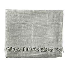 Linen Window Pane Throw – Mist | Serena & Lily, blankets!!