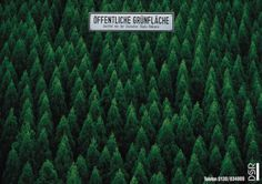 Read more: https://www.luerzersarchive.com/en/magazine/print-detail/dsr-6207.html DSR Public green. Campaign promoting billboards as an advertising medium. Tags: Frank Nesemann,Frank Hahn,Jung von Matt, Hamburg,DSR