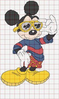 Disney Mickey Mouse cross stitch