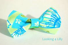 Fabric Hair Bow Made with Lilly Pulitzer fabric Preppy Hair Bow Girls Hair Bow. $4.95, via Etsy.