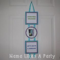 Monsters Inc. Party Welcome Sign....Only $10