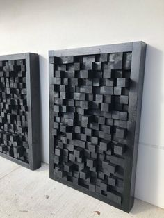 Wooden art sound diffuser black hanging acoustic panel studio theater sound dampening treatment pixel - Home Decor Studio Theater, Wooden Art, Wood Wall Art, Wooden Signs, Make Up Art, Wall Treatments, Art Pieces, Wall Decor, Studios