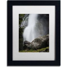 Trademark Fine Art 'Meditative Falls' Canvas Art by Philippe Sainte-Laudy, White Matte, Black Frame, Size: 16 x 20, Multicolor