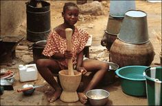 Cooking in Mali, Africa