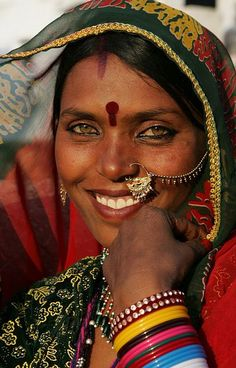 A beautiful smile from India.