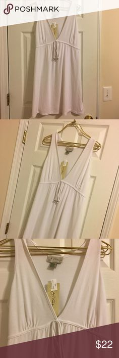 White cover up- new! Gorgeous white bathing suit cover up- new with tags. Soft material. Fast Shipping J. Valdi Swim Coverups