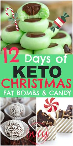 18 Holiday Keto Candy Recipes (Keto Treats) - Keto / Low Carb Diet Recipes - 12 Christmas fat bombs and holiday keto sweet treats that'll rock your healthy holidays! Keto Christmas desserts and keto candy makes it easy to stick to your ketogenic diet! Low Carb Candy, Keto Candy, Keto Cookies, Candy Cookies, Chip Cookies, Keto Fat, Low Carb Keto, Dessert Haloween, Keto Postres