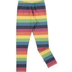 Nevada - Rainbow Stripe - Randiga unisex leggings i regnbågens färger - Molo