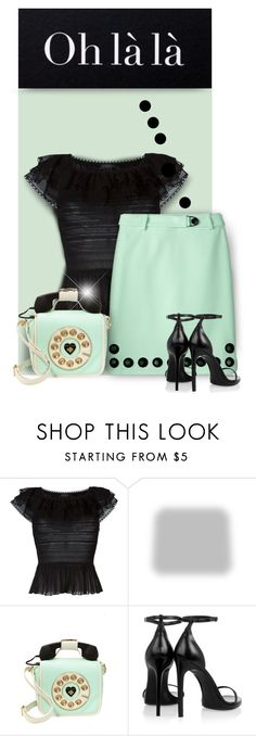 """""""Call Me Maybe"""" by passion-fashion-2 ❤ liked on Polyvore featuring Alexander McQueen, Per Se, Shabby Chic, Betsey Johnson and Yves Saint Laurent"""
