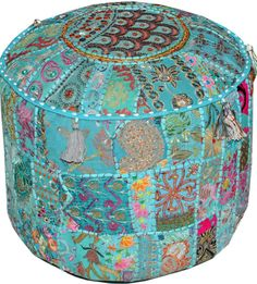 Hey, I found this really awesome Etsy listing at https://www.etsy.com/listing/183345804/xl-turquoise-tufted-pouf-ottoman-floor
