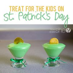 Fun Green St. Patricks Day Treat for Kids | How Does She...