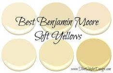 If you are looking for a paint colour for your walls that\& not beige or gray but can still function as a neutral, then take a look at some of these gorgeous soft yellows from Benjamin Moore. I love these yellows because they are so versatile and can. Farmhouse Paint Colors, Kitchen Paint Colors, Room Paint Colors, Paint Colors For Home, House Colors, Wall Colors, Bedroom Colors, Yellow Paint Colors, Neutral Paint Colors