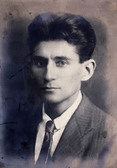 "Franz Kafka, unknown photographer:  ""This photo was taken in 1906 and was said to have hung over his mother's bed.  Kafka was well known for sending his own portraits to his various flames. To Kafka it was a form of self-sacrifice by giving up his likeness to the perception of others."""