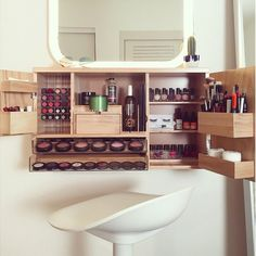 Makeup Organization Small - 40 Clever Ways To Use Small Space For Dressing Table.