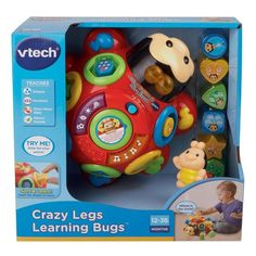 Vtech New Crazy Legs Learning Bug (Age: 12 months – 3 years)(Styles may vary)   - Click image twice for more info - See a larger selection  of  Baby push and pull toys    at  http://zbabybaby.com/category/baby-categories/baby-and-toddler-toys/baby-push-and-pull-toys/   - gift ideas, baby , baby shower gift ideas , kids, toddler, toys « zBabyBaby.com