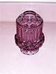 Vintage Violet Fairy Lamp - Candle Light Holder on Etsy Lantern Candle Holders, Candle Lamp, My Glass, Glass Art, Candlesticks, Candleholders, Viking Glass, Flea Market Style, Fairy Lamp