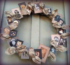 *Jennuine by Rook No. 17*: Family Tree Wreath Tutorial & Free Printable Vintage Photo Frames