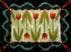 Tulppaanimatto Rya Rug, Rug Hooking, Wall Hangings, Carpets, Wallet, Rugs, Design, Carpet, Pocket Wallet